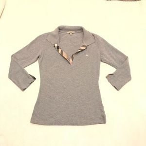 Burberry collar long sleeve shirt. XS